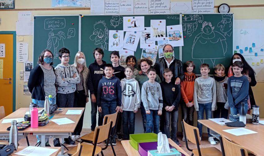 26/2/21  Pierre Kroll dans notre école :)